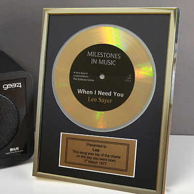 Personalised Framed Gold Record Disc 18th 21st 40th 50th 60th Birthday Gift Idea](Birthday Sash Ideas)