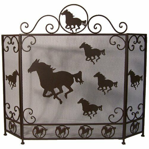 Ll Home Fire Place Screen with Horse Design