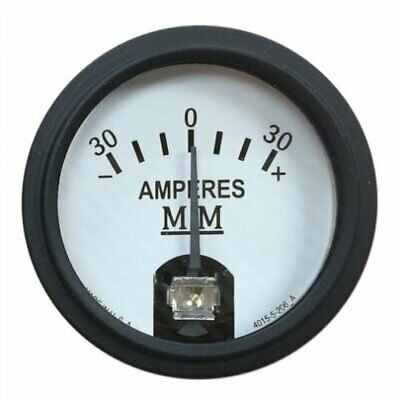 Amp Meter Gauge - Black Bezel For Minneapolis Moline R Z M602 M5 Jet Star 445