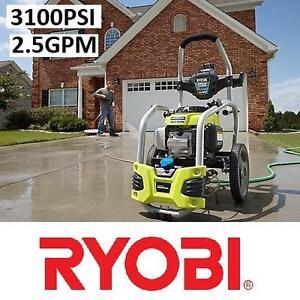 NEW* RYOBI GAS PRESSURE WASHER - 131972926 - 3100PSI 2.5GPM HONDA IDLE DOWN Outdoor Power Equipment
