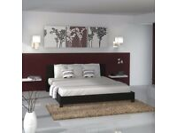 【SINGLE ,DOUBLE & KING SIZE】 LEATHER BED PRADO DESIGN BLACK BROWN HIGH QUALITY LOW PRICE MATTRESS