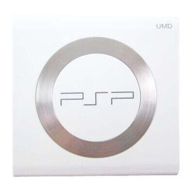 PSP 2000 - WHITE UMD Door Cover w Steel Ring Replacement (2001 Slim -
