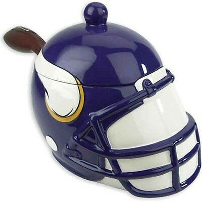 Minnesota Vikings Football Helmet NFL Soup Tureen or  Serving Bowl