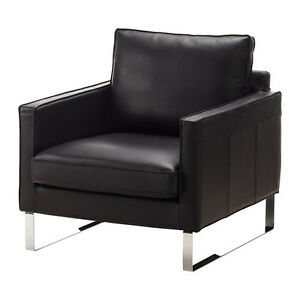 Ikea Mellby Leather Armchairs (2)