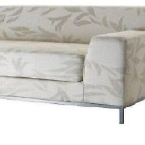 Details about Ikea Kramfors right one arm love seat sofa natural ...