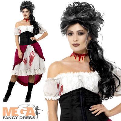 Victorian Slasher Victim Ladies Fancy Dress Jack Ripper Halloween Adults - Victim Halloween Costume