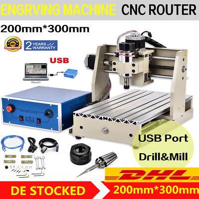 Cnc Router Graviermaschine FräSmaschine USB 3 Achse 3020T Milling FräSer MACH3