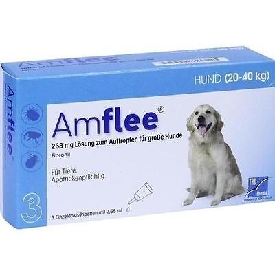 AMFLEE 268 mg Lösung z.Auftropfen f.große Hunde 3 St PZN 11099846