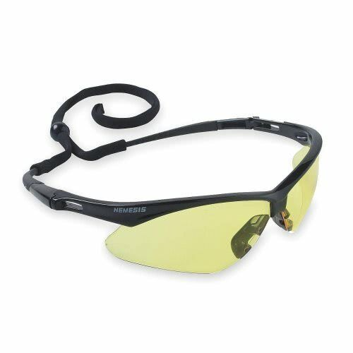 Jackson Nemesis V30 Safety Glasses/Sunglasses Various Colors & Quantities  25659 - Black Frame/Amber Lens