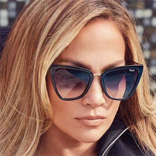 "QUAY AUSTRALIA X JLO ""REINA"" Cat Eye Sunglasses + Limited Edition Zipper Case"