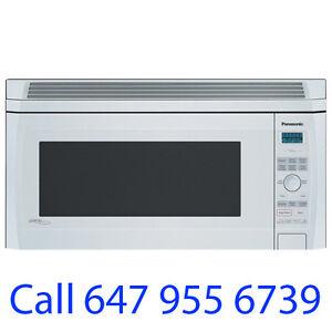White Nnsd277w Panasonic Over The Range Microwave 2 0cu Ft