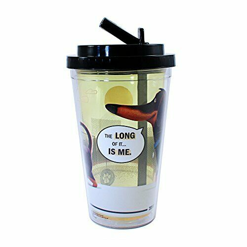 The Secret Life of Pets Buddy Dachshund Travel Tumbler 16oz - NEW