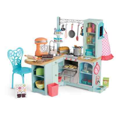 NEW American Girl Gourmet Kitchen Set for 18 Inch Tall Dolls COMPLETE 65+ Pieces