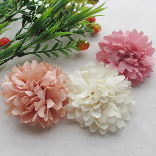 E244 75mm Big Ribbon Flowers Bows Rose Wedding Craft Decor
