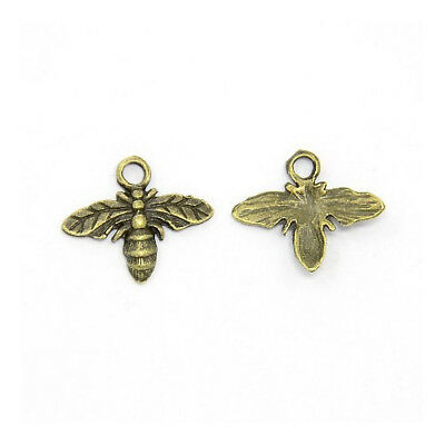 Packet 20 x Steampunk Antique Bronze Tibetan 15mm Bee Charm/Pendant ZX01240