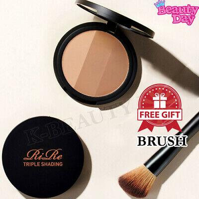RiRe Triple Shading Face Makeup 9.5g Pressed Powder Shimmering Skin Perfector