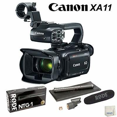 Canon XA11 Compact Full HD Camcorder Bundle +RODE Condenser Shotgun Microphone K