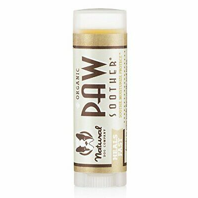 Natural Dog Company Paw Soother Trial Stick, Heals Dry, Cracked, Irritated Dog
