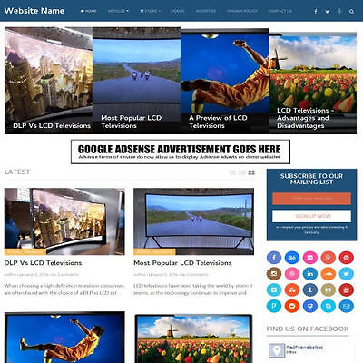 ELECTRONICS STORE - Website Business For Sale Responsive Mobile Friendly Design