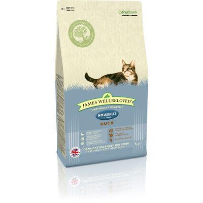 JAMES WELLBELOVED ADULT HOUSECAT DUCK COMPLETE DRY CAT FOOD 1.5KG