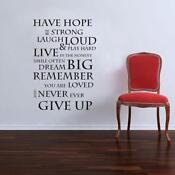 Wall Vinyl Decal Quote
