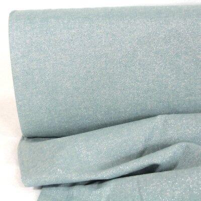 Metallic Stoff hellblau Baumwolle Leinen Essex Yarn Dyed Water Lurex (Essex Leinen)