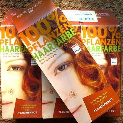 Sante Mahagonirot Pflanzen-Haarfarbe 100g Pulver Naturkosmetik vegan bio pflegt