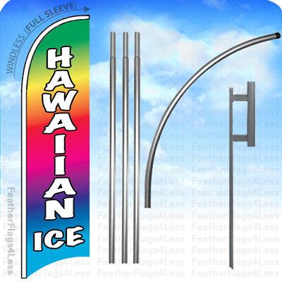 Hawaiian Ice - Windless Swooper Flag Kit Feather Banner Sign 15 Set - B