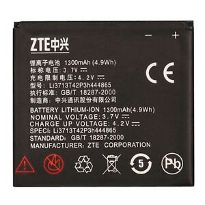100% Genuine ZTE Blade Orange San Franciso P729B Battery Li3713T42P3h444865 OEM