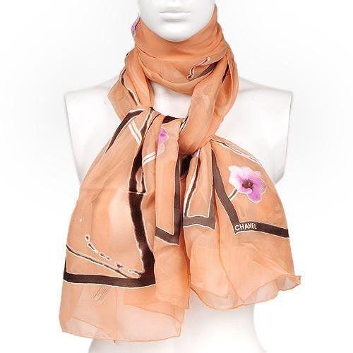 chanel silk scarf new ebay