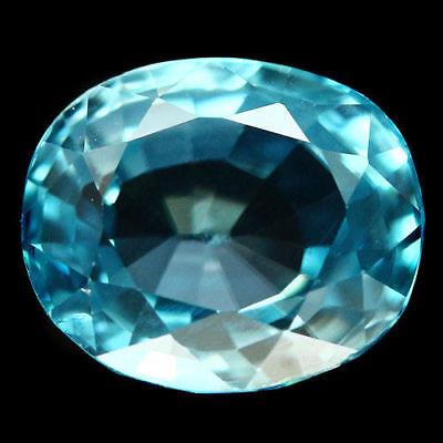 TOP ZIRCON : 3,04 Ct Natürlicher Blau Zirkon aus Kambodscha