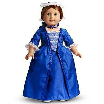 American Girl FELICITY'S BLUE HOLIDAY GOWN Dress DOLL not Included RETIRED