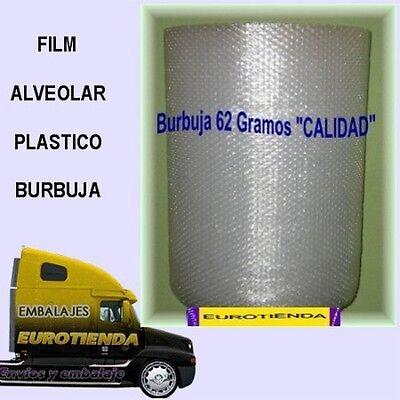 ROLLO BOBINA PLASTICO BURBUJA 0,60 X 50 m PLASTICO BURBUJA GRAMAJE CALIDAD...