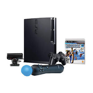 Sony Playstation 3 PS3 with Move Bundle. 4 Free Games Windsor Region Ontario image 2
