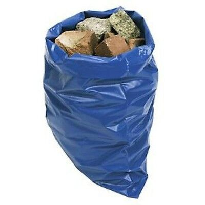 100 x Heavy Duty Blue Aggregate Sacks Rubble Bags 500 x 750mm Strong Builders