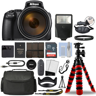 Nikon Coolpix P1000 16MP 4K Digital Camera with 125x Optical Zoom + 32GB Bundle for sale  Shipping to India