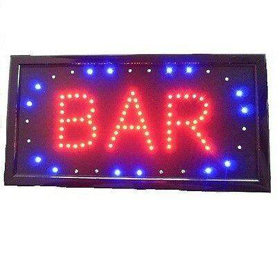 Animated Motion Led Business Bar Sign Light Onoff Switch Open Bright Light Neon