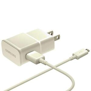 Samsung 0.75m (2.4 ft.) Adaptive Fast Charging MicroUSB Wall Charger (EP-TA20JWEUGCA) | BRAND NEW