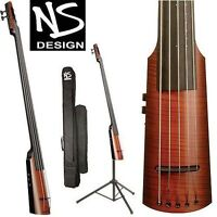 NS DESIGN NXT 4-STRING ELECTRIC BASS with case and tripod