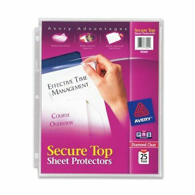 Avery Secure Top Load Sheet Protector - Letter 8.50