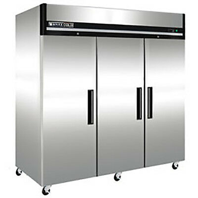 New Maxx Cold Mxcf-72fd Triple 3 Door Commercial Reach In Freezer X-series