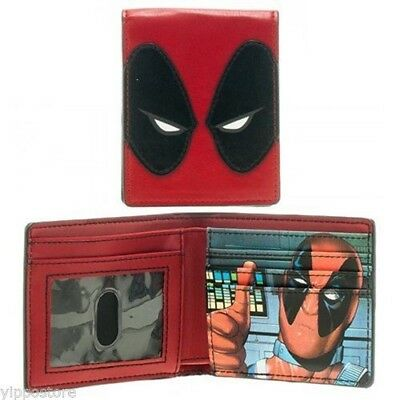 Marvel Comics Deadpool Mask Bi-Fold Wallet