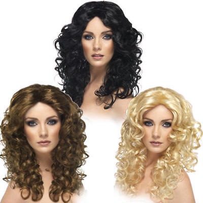 Ladies Glamour Wigs Fancy Dress Curly Stylish Retro Women Costume Accessory New