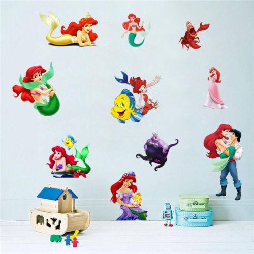 The Little Mermaid Princess Ariel Wall Sticker PVC Mural Kid