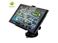 """TOM 7"""" Car GPS SAT NAV Navigation System TOM FM Speedcam UK+EU map 8GB"""