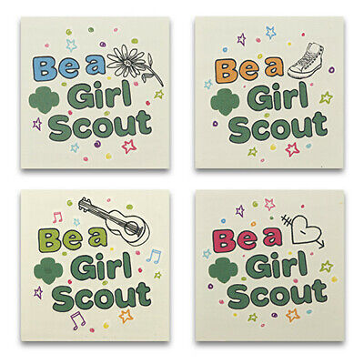 NEW 40 Be a Girl Scout Temporary Tattoos Cookie Season Recruitment Fun Camping (Camping Tattoos)