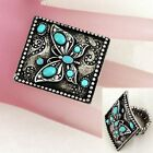 Butterfly Turquoise Fashion Rings