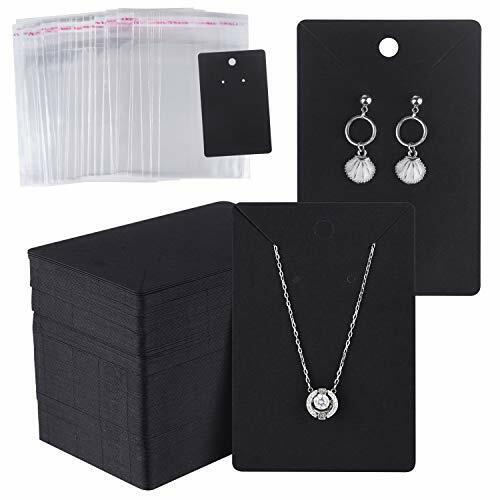 150 Set Earring Display Card with 150 Pcs Self-Seal Bags, Earring Holder Card