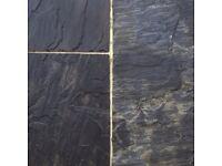 Premium Sagar Old Black Indian Sandstone Paving Slabs | Garden | Patio | 19m2