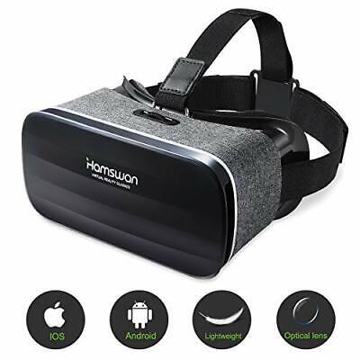 HAMSWAN Lunette 3D VR, Casque de Réalité Virtuelle, Le Plus Léger. 3D Films.